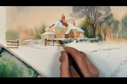 Painting - Watercolor - Winter Landscape Concept to Completion-Part 2