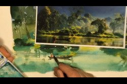 A Landscape Watercolor in 8 Minutes