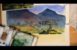 Painting - Watercolor - Landscape Concept to Completion-Part 1
