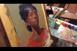 Painting - Oil - African American Female Portrait - Part 3