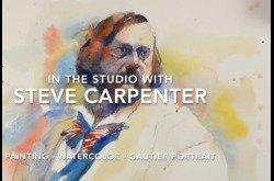 Painting - Watercolor - Gautier Portrait
