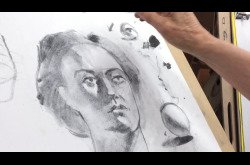 Drawing - Charcoal - Portrait - Jessamyn