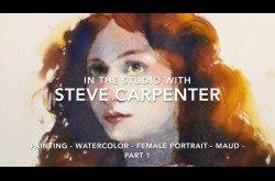 Painting-Watercolor-Female-Portrait-Maud-Part 1