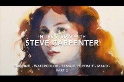 Painting-Watercolor-Female-Portrai-Maud-Part 2