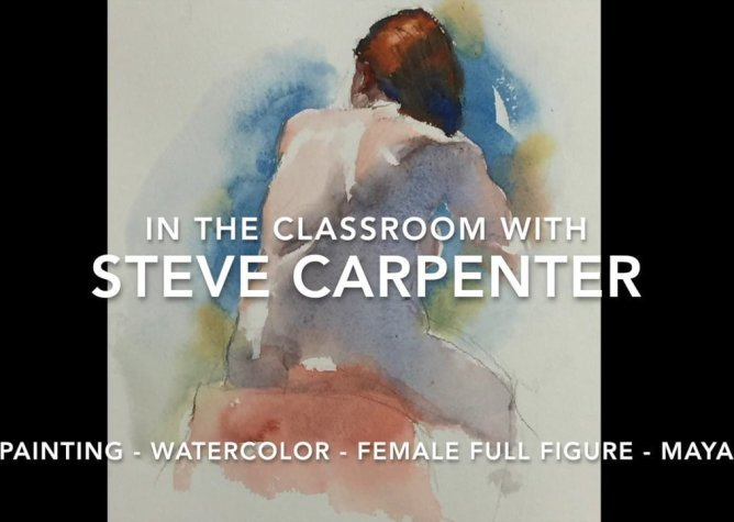 Watercolor Painting Video Lesson Female Full Figure Maya