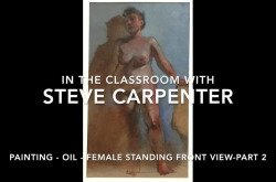 Oil Figure Painting Lesson - Female Standing Front View Part 2