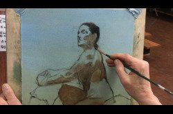 Oil Painting Seated Female in Profile Part 1