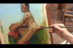 Painting-Oil-Seated Female in Profile Part 3