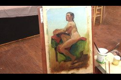 Painting-Oil-Seated Female in Profile Part 4