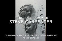 Charcoal Drawing Lesson 3 Figure Drawing Poses - 2 Charcoal Portraits - Charles