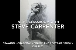 Charcoal Portrait and Figure Drawing Instructional Demo Video - Charles
