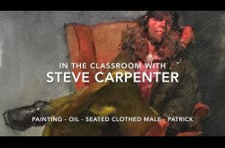Oil Painting Portrait Tutorial Demo by Steve Carpenter - Seated Clothed Male - Patrick