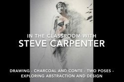 Drawing-Charcoal and Conte-Two Poses-Exploring Abstraction and Design