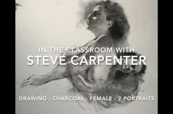 Charcoal-Drawing-Female-2 Overlapping Portraits by Steve Carpenter