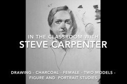 Charcoal Drawing Female -Two Models Figure and Portrait Studies by Steve Carpenter